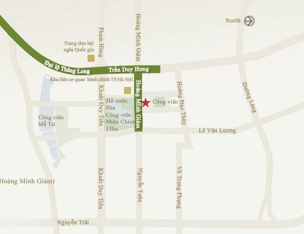 Bản đồ vị trí khu phức hợp Mandarin Garden