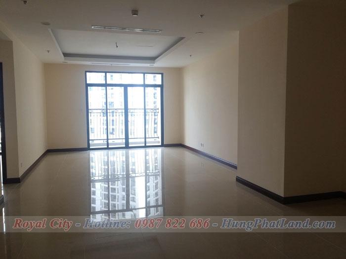 Cho thuê chung cư Royal City R3 169m2 3 phòng ngủ không đồ