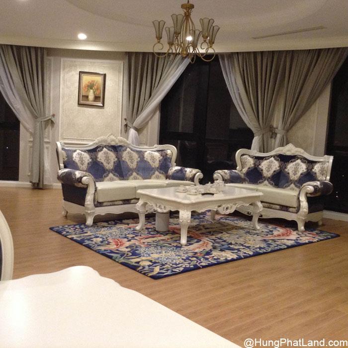 Bộ bàn ghế SOfa phòng khách căn hộ R6 Royal City