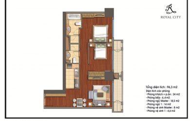 Thiết kế căn hộ Royal City R1 96m2