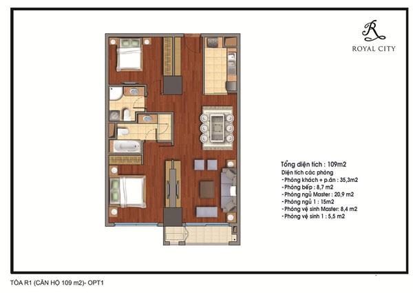 Căn hộ số 5 tầng 18 toà R1