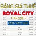 Bảng giá thuê chung cư Royal City