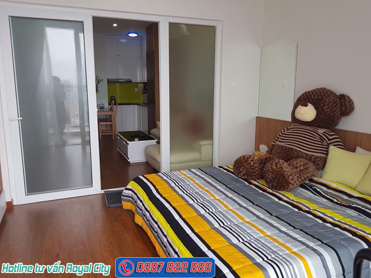 phòng ngủ căn hộ Royal City R6 1 ngủ