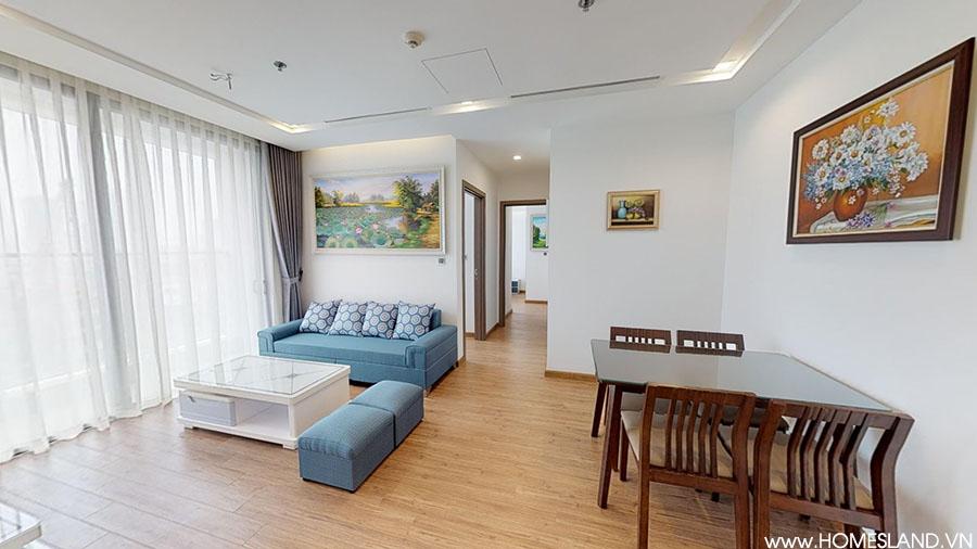 Không gian phòng khách căn hộ Vinhomes Metropolis đủ đồ cho thuê.