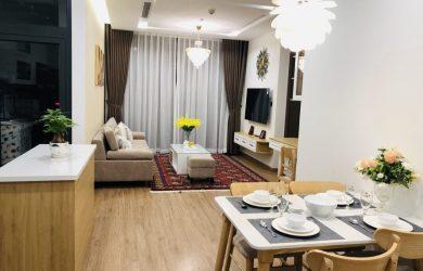Không gian phòng khách căn hộ 2 ngủ toà M3