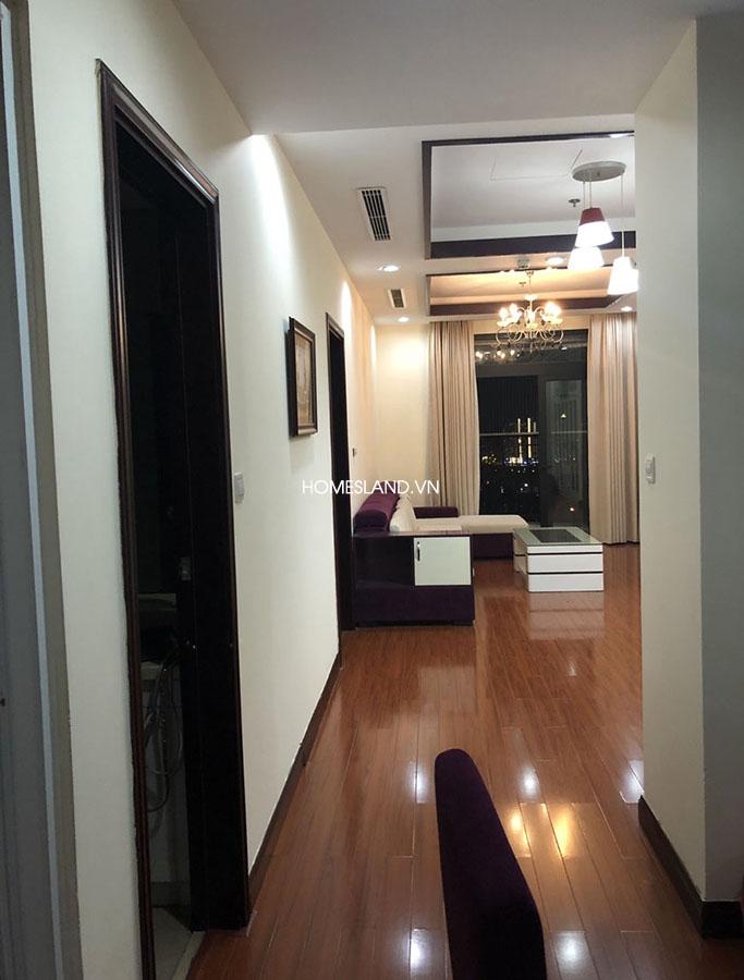Không gian phòng khách của căn hộ 102m2 R5 Royal City