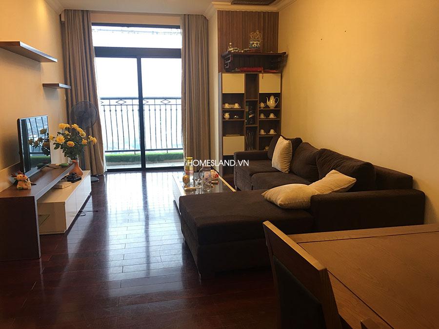 Không gian phòng khách căn hộ 88m2 toà R2 Royal City