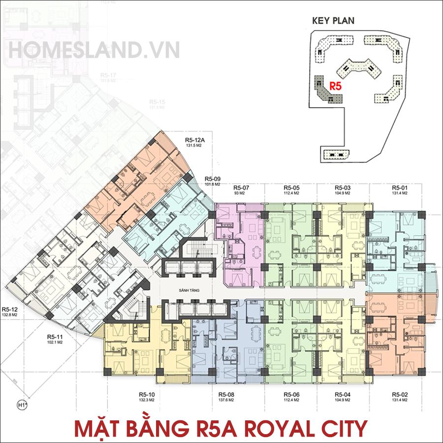 Mặt bằng R5A Royal City