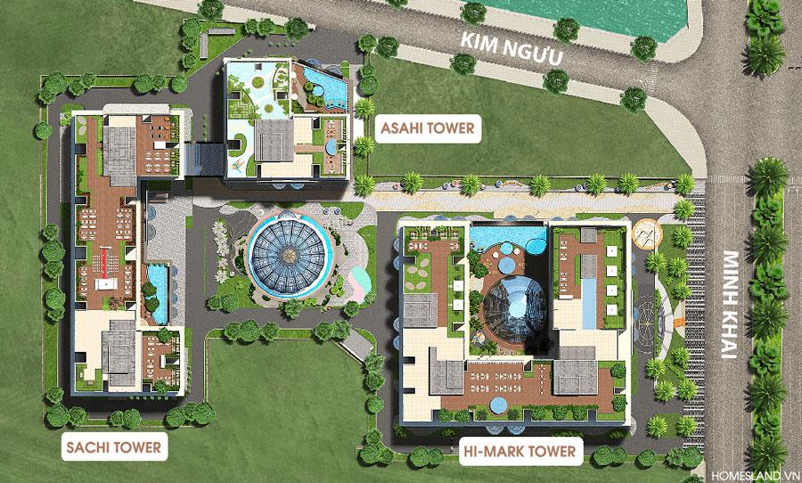 Mặt bằng tổng quan dự án Hinode City