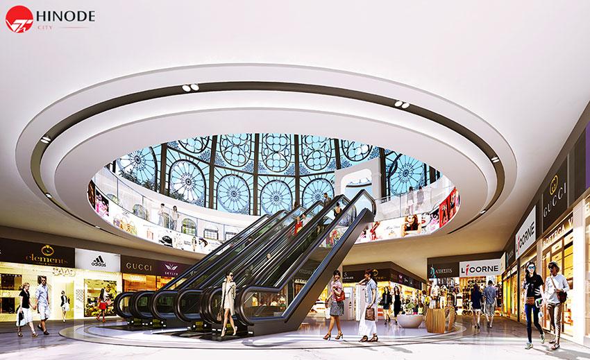 Hệ thống trung tâm thương mại tại Hinode City