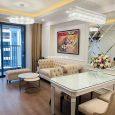 Phòng khách căn hộ 75m2 toà B Imperia Sky Garden