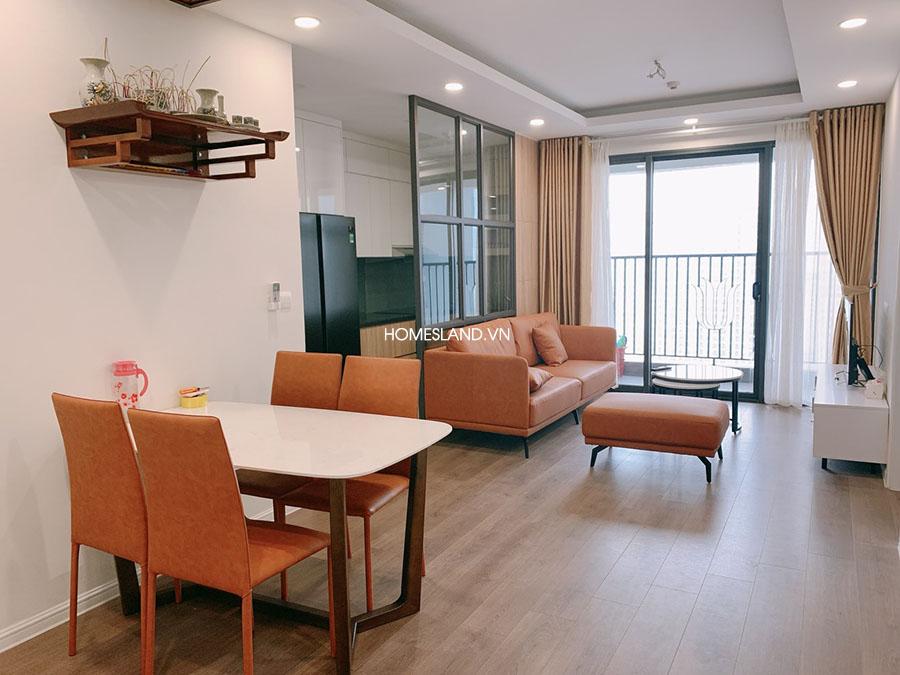 Không gian phòng khách căn hộ - 74m2, 2 ngủ, Đủ đồ (imperia Sky Garden)