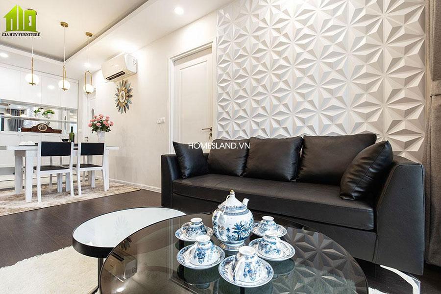 Phòng khách căn hộ 78m2 toà B Imperia Sky Garden