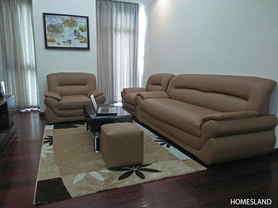 Không gian phòng khách - căn hộ 2 ngủ sáng toà R1