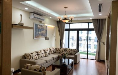 Không gian phòng khách - căn hộ 3 ngủ toà R4
