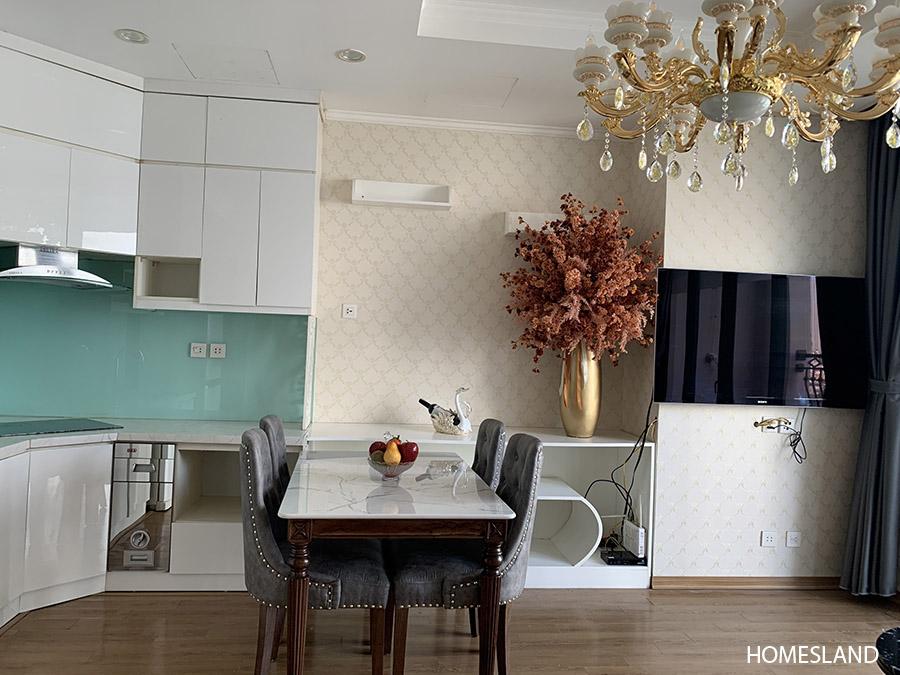Không gian bếp & bàn ăn - căn hộ 2 ngủ, 70m2 toà R6